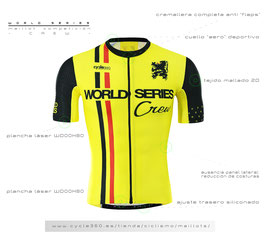 Maillot World Series config. RHODIUS  tope de gama profesional mod. CREW