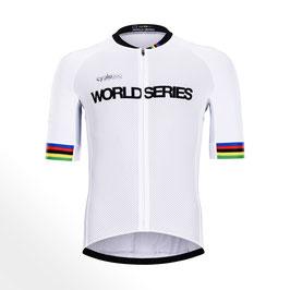 Maillot ciclista media manga tope de gama WORLD SERIES TITANIUM 2019 mod. PODIUM blanco