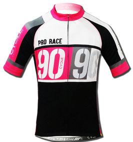 Maillot Pro mod ARMADO 90 en color blanco-rosa