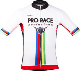 Maillot tope de gama 2017 mod. PODIUM GOLD blanco