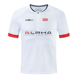 Camiseta técnica trail entallada ALPHA blanca