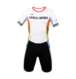 Traje de una pieza triatlón, tope de gama WORLD SERIES 2018 mod. THE SHARK blanco