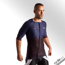 Maillot ciclista media manga alta de gama PRO EVO 2018 mod. SUPERALPE azul