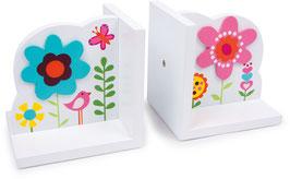 Buchstützen Blume
