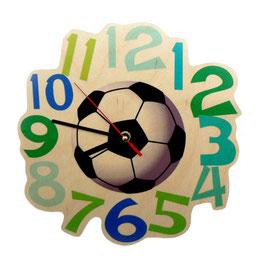 Wandquarzuhr Fußball