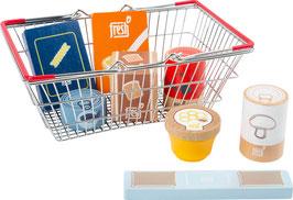 """Lebensmittel-Set im Einkaufskorb """"fresh"""""""