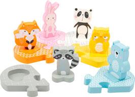 Steckpuzzle Tierfamilie