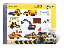Volvo Baufahrzeuge 8cm Play-Set 6 Fahrzeuge
