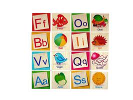 Buchstabenmemo ABC
