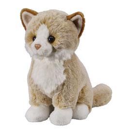 Katze sitzend 25cm, beige