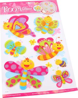 Dekosticker Schmetterlingsfreunde