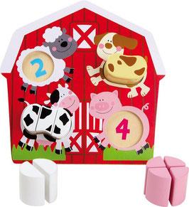 Setzpuzzle Bauerntiere