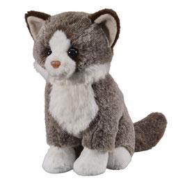 Katze sitzend 25cm, dunkelbraun