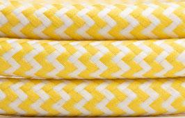 """Textilkabel """"Gelb-Weiß"""""""