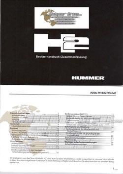 Hummer H2 Besitzerhandbuch Zusammenfassung in Deutsch