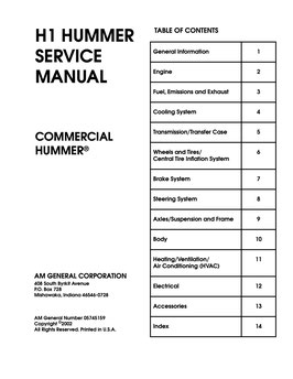 Hummer H1 Service Manual