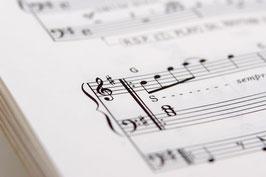 指番号付きアイリッシュハープ楽譜