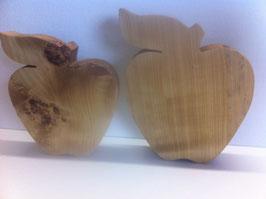 Massivholz Apfel in zwei Größen