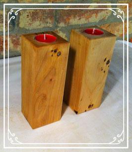 Massivholz Kerzenständer Rustikal