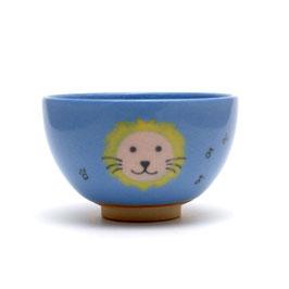 ライオンの絵 小服茶盌