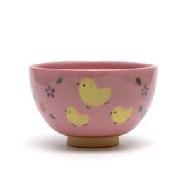 ヒヨコの絵 小服茶盌