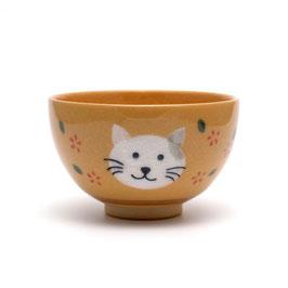 ネコの絵 小服茶盌