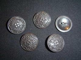 Metallknopf mit Öse, 23 mm, Farbe: 88 grau-schwarz