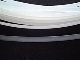 Stäbchenband durchnähbar, weiß, 12 mm