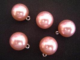 Knopf mit Öse, 16 mm, Farbe: 56 rosa