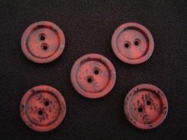 Knopf, 2-Loch, 18 mm, Farbe: 48 dl.rot