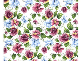 SWEET PEA CHINTZ CLEAR