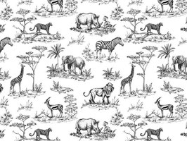 SAFARI TOILE BLACK