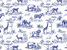 SAFARI TOILE BLUE