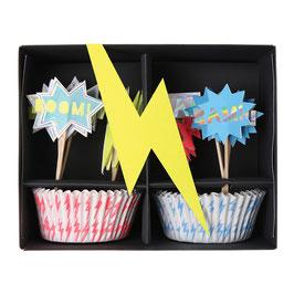 "MERI MERI Superhelden Cupcake-Kit ""ZAP!"""
