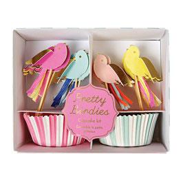 "MERI MERI Vögelchen-Cupcake-Kit ""Pretty Birdies"""
