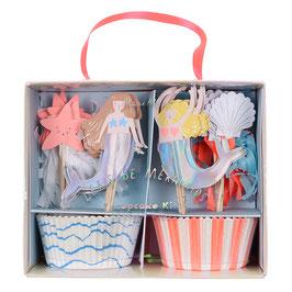 """MERI MERI Meerjungfrauen Cupcake-Kit """"Let's be Mermaids"""""""