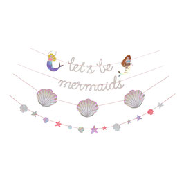 "MERI MERI Meerjungfrauen Girlande ""Let's be Mermaids"""