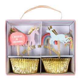 "MERI MERI Einhorn-Cupcake-Kit ""I believe in Unicorns"""