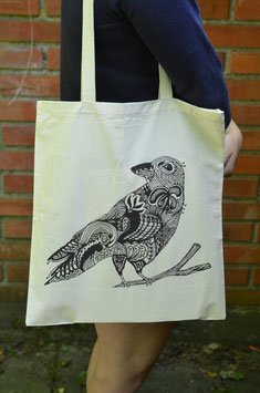 Stofftasche Patterned Bird