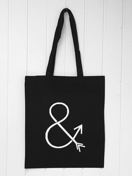 Stofftasche and arrow schwarz