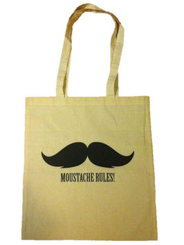 Stofftasche Moustache Rules