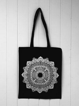 Stofftasche Mandala schwarz