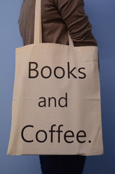 Stofftasche Books&Coffee