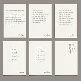 Postkarten Set - Gedichtzeilen Edition I