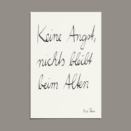 "Poster ""Keine Angst ""  (A3)"