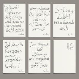 Postkarten Set - Songzeilen Edition 2