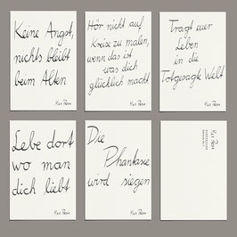 Postkarten Set - Songzeilen Edition I