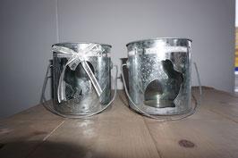 Windlicht Blech/Glas  Ostern Nr. 52