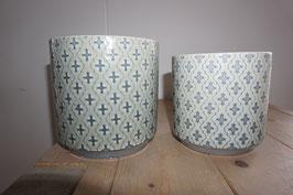 Keramikübertopf elegant Nr.77