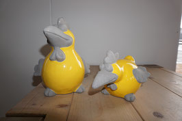 Keramikvogel gelb Nr. 10